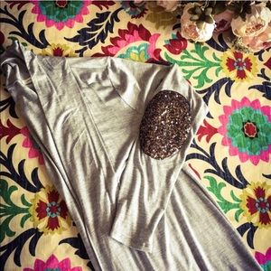 Gold sequin patch elbow cardigan
